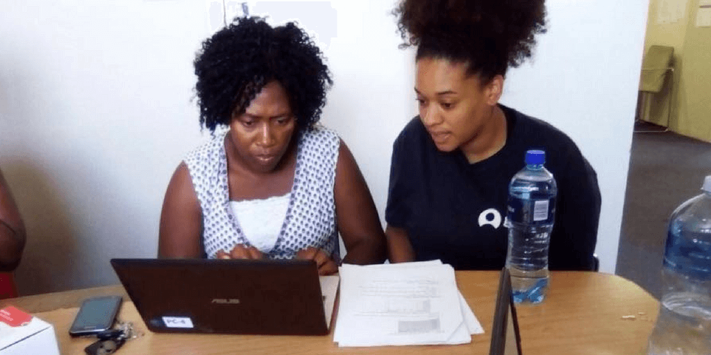 Volunteer on a women's empowerment program in Cape Town.