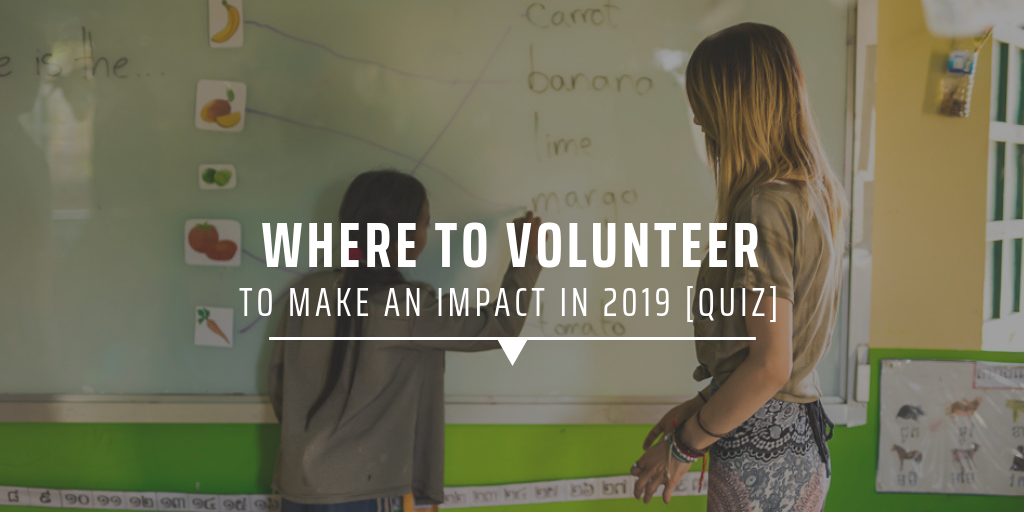 Where to volunteer to make a difference in