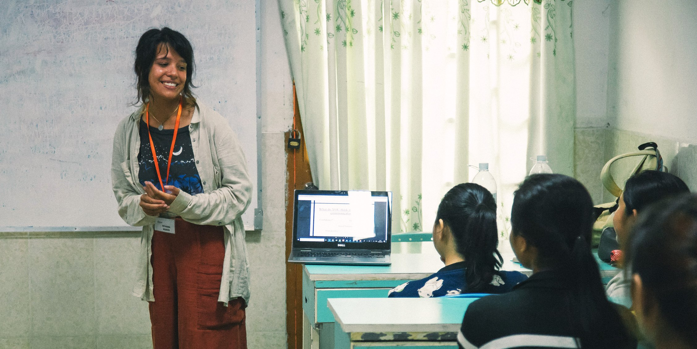 Leadership training programs are one of the clearest ways to development leadership skills. Pictured: A GVI participant leads a session in Cambodia.