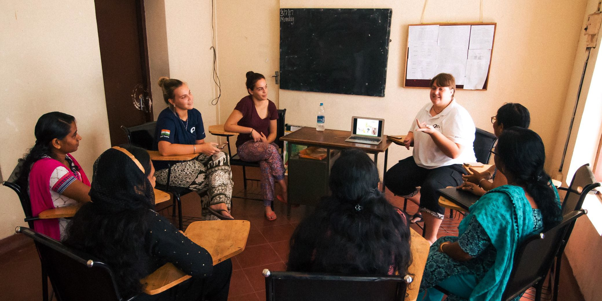 This women's empowerment program in India is one of the best volunteer abroad programs for adults. These women teach each other valuable skills, and discuss women's empowerment.