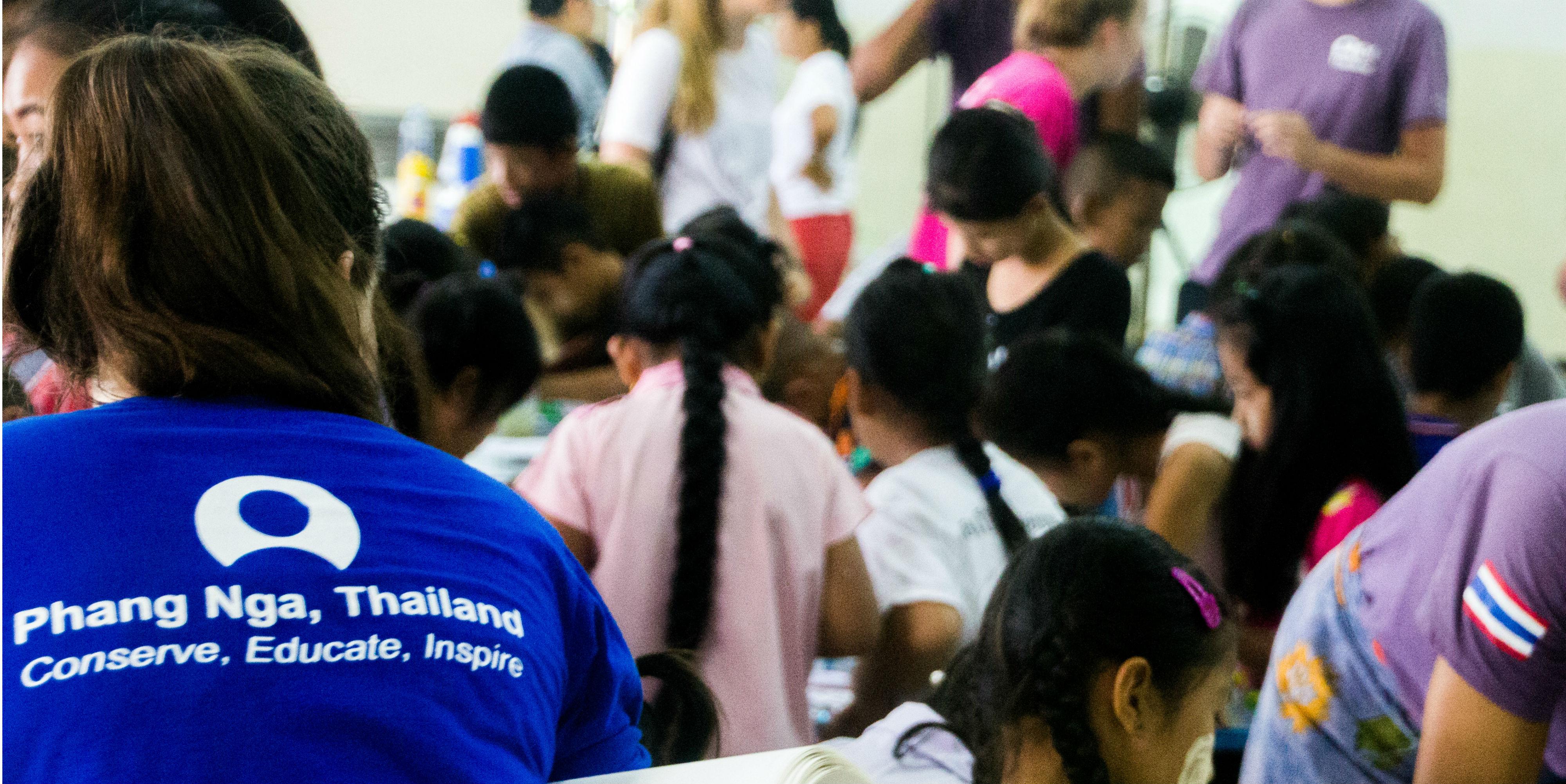 A GIV participant works toward gaining her TEFL certification in Phang Nga, Thailand.