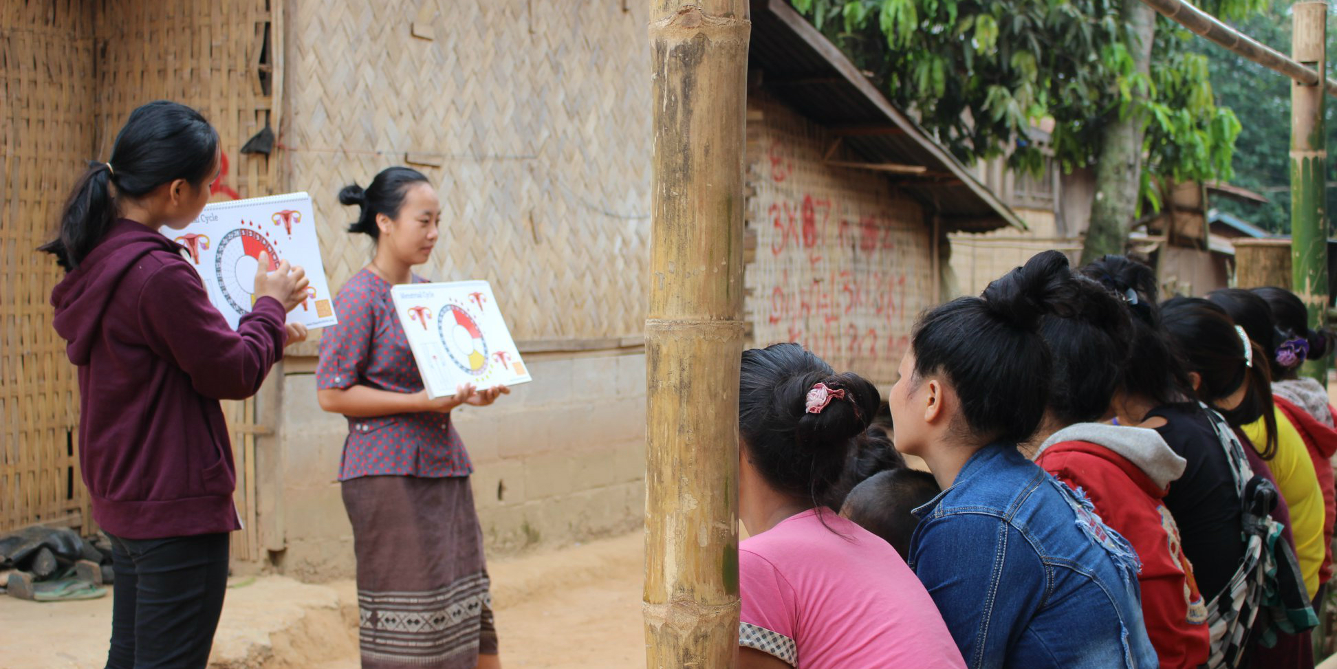 Local women lead a session on menstrual health education in Laos | donate or volunteer