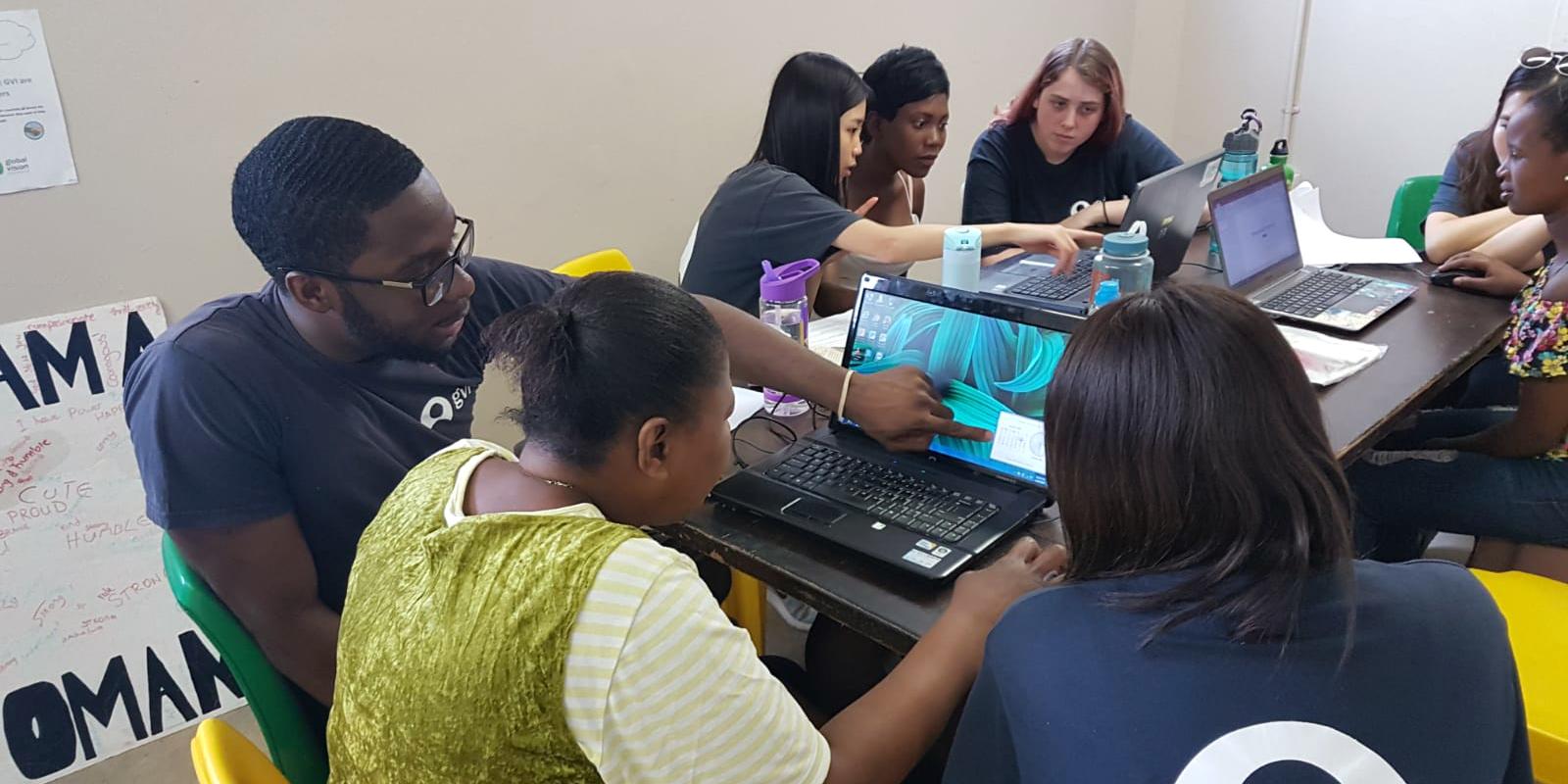 Participants lead a skills developmment workshop as part of GVIs women's empowerment programs.