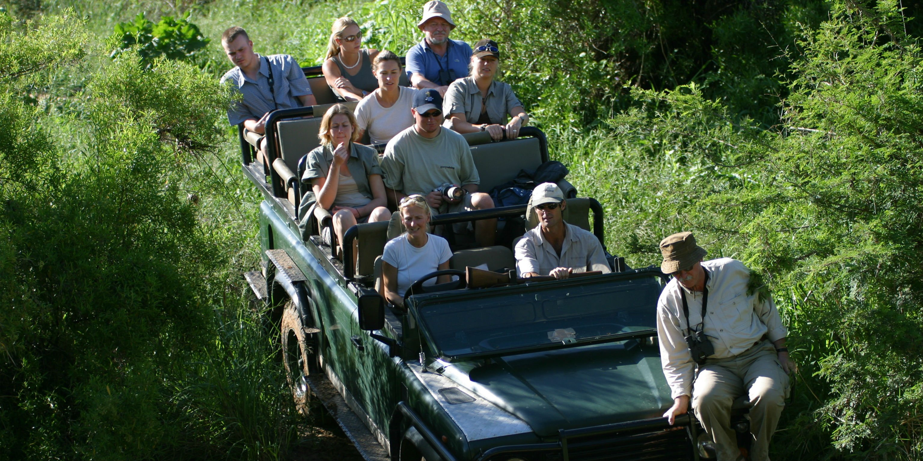 As a wildlife conservation volunteer abroad, these participants go on daily game drives to record data on the species in the Karongwe reserve.