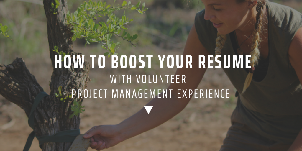 How to boost your resume with volunteer project management experience