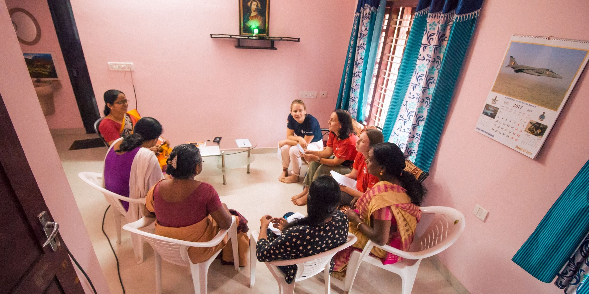 Volunteer in India during a gap year.