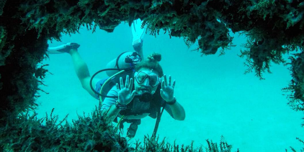 You can get involved in marine conservation efforts by taking a padi diving course with GVI