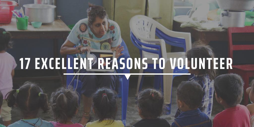 17 excellent reasons to volunteer