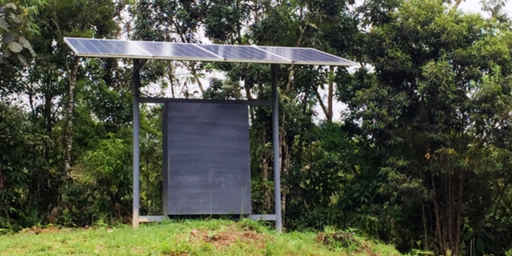 Solar panels on a GVI base